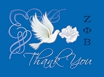 Zeta Thank You Cards