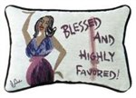 Blessed And Highly Favored Cidne Wallace Pillow