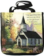 House of The Lord Tapestry Tote Bag