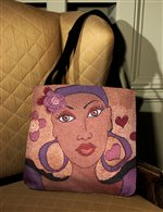 Pretty Eyes - African American Tapestry Tote Bag