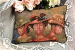 Faith Hope and Love African American Tapestry Pillow