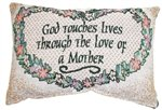 God Touches Lives Message Pillow