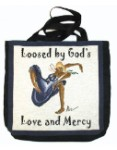 Loosed by God's Love & Mercy - Tapestry Tote Bag