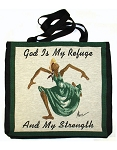 God is My Refuge & Strength Tote Bag