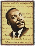 Martin Luther King Tribute Throw