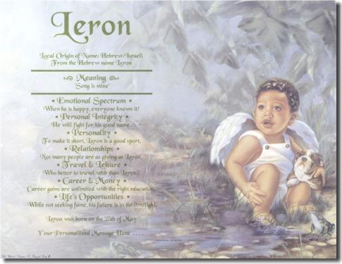 Black Boy Angel First Name Origin Print