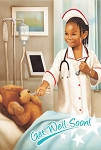 Teddy Bear Nurse Get Well Card