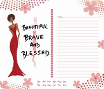 Beautiful Brave and Blessed Memo Mousepad