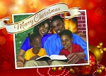Family Merry Christmas - African American Christmas Cards