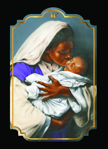 Mother and Child African American Christmas Card