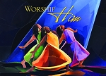 Worship Him - African American Christmas Cards