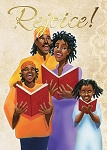 Family Rejoice - African American Christmas Card