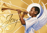 Trumpet Joy Merry Christmas Card