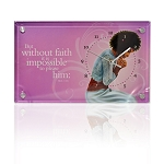 But Without Faith Desk Clock