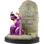 Power In The Name of Jesus African American Figurine