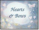 Hearts and Bows Print-First Name Origin Print