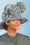 Mother In Gray Hat - African American Mother's Day Card
