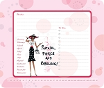 Faithful Fierce and Fabulous Memo Mouse Pad