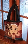 Brown and Gold - African American Tote Bag
