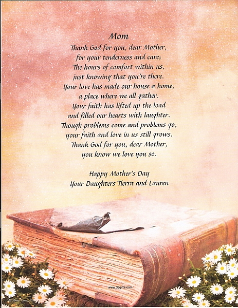 Thank god for you mom personalized poem thecheapjerseys Image collections