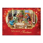 Merry Christmas Dinner African American Christmas Cards