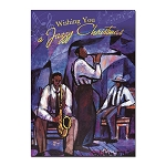 Wishing you a Jazzy Christmas African American Christmas Cards