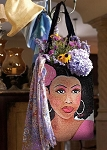 Pink Lady African American Tapestry Tote Bag