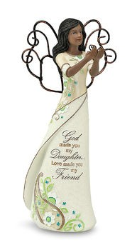 Daughter Ebony Perfectly Paisley Figurine with Butterfly