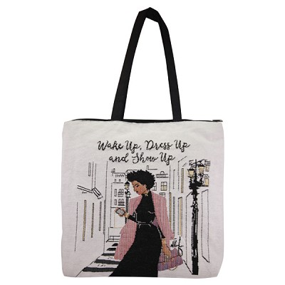 Wake Up Dress Up and Show Up Tote Bag