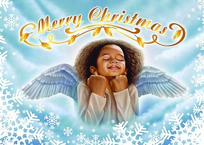 Angel Merry Christmas Cards