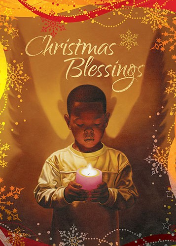 christmas blessing african american christmas card