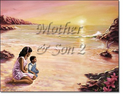 Mother and Son First Name Origin Print