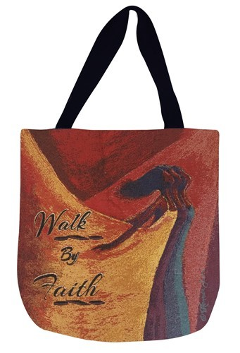 Walk by Faith Tapestry Tote Bag