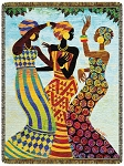 Celebration by Keith Mallett Tapestry Throw