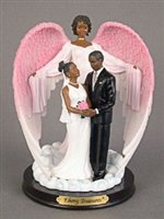 Wedding Guardian Angel African American Figurine
