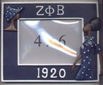 Zeta Phi Beta Lady Diva Picture Frame