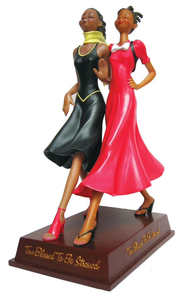 Too Blessed To Be Stressed African American Figurine