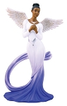 Sash Angel Figurine Blue