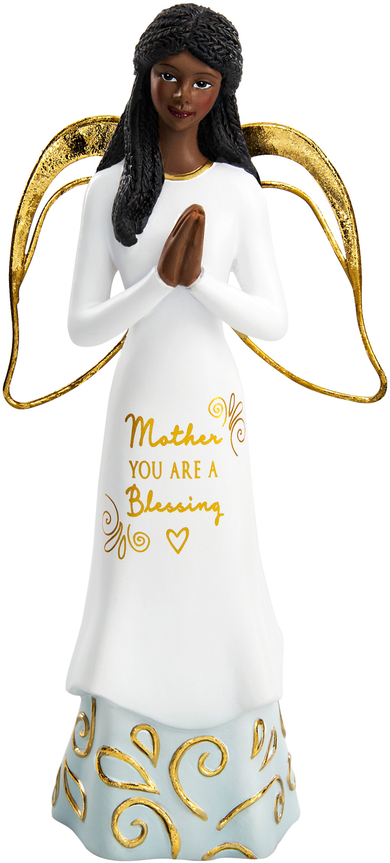 Mother You Are A Blessing African American Angel Figurine
