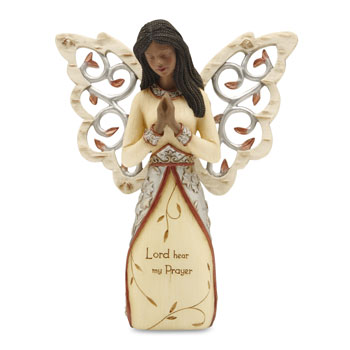 Prayer Ebony Elements Angel Figurine