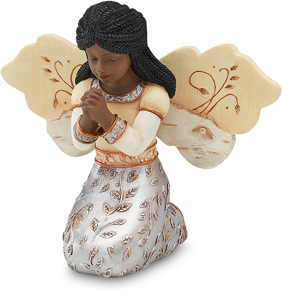 In Faith Elements Angel African American Figurine