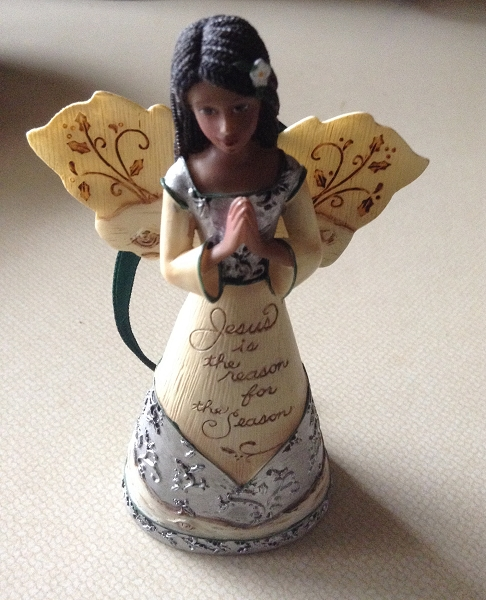 Black Angel Praying Ornament