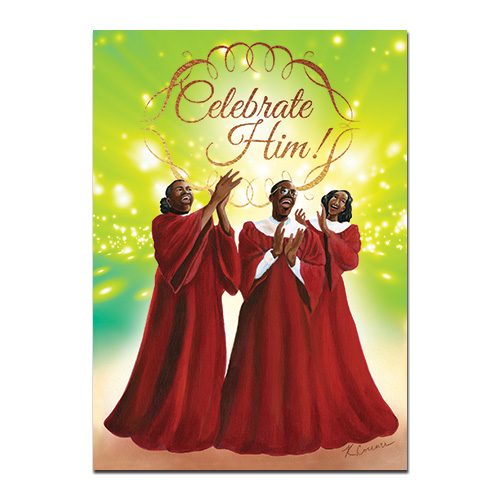 Celebrate Him African American Christmas Cards