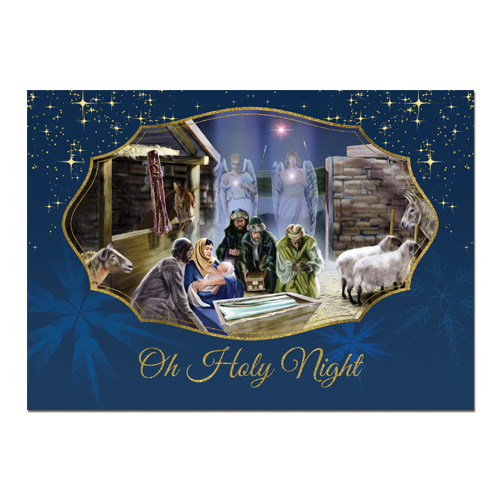 Oh Holy Night African American Christmas Cards