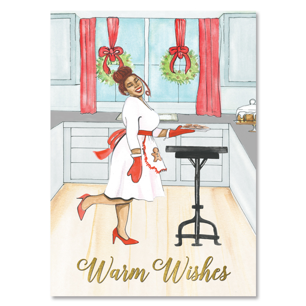 Warm Wishes African American Christmas Cards
