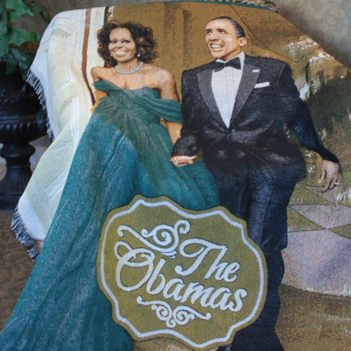 The Obamas Tapestry Throw