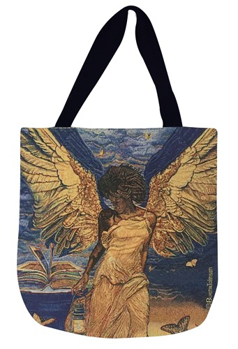 Angelic Guidance Tapestry Tote Bag