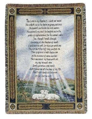 My Shepherd 23rd Psalm -  Tapestry Throw