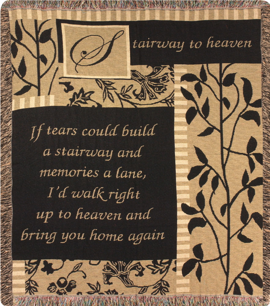 Stairway To Heaven Tapestry Throw
