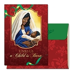 A Child Is Born African American Christmas Cards